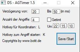 DS AG Timer 1.5 - Perfektes Timen von Angriffen/AGs in die Stämme