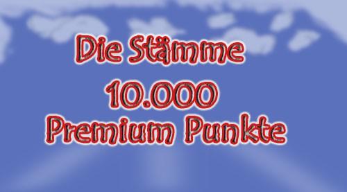 10000 x Premium Punkte für Die Stämme