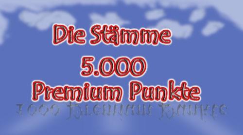 5000 x Premium Punkte für Die Stämme