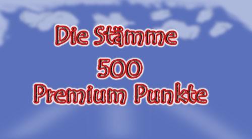 500 x Premium Punkte für Die Stämme
